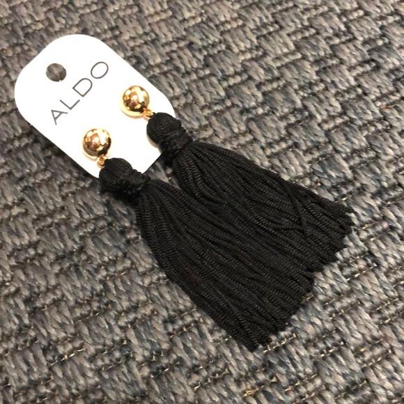 NWT Aldo Black Tassel Earrings